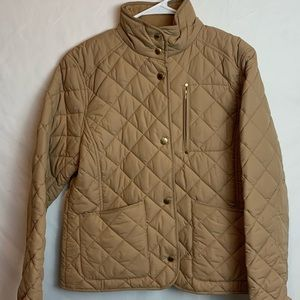 Lauren Ralph Lauren Biege Quilted Insulated Jacket